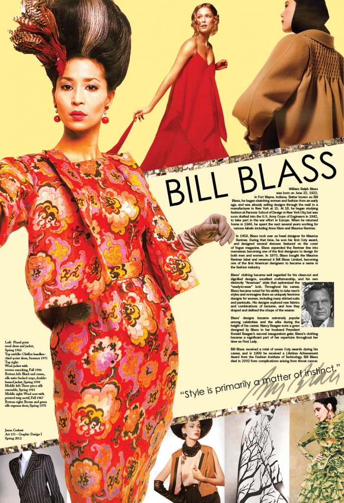 bill blass fashion poster