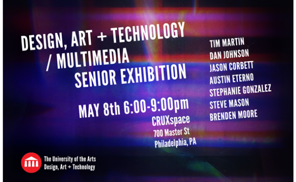 Design Art and Technology Senior Exhibition card