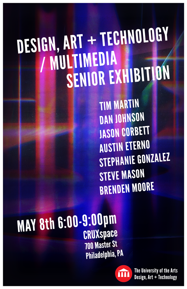 Design Art and Technology Senior Exhibition Poster