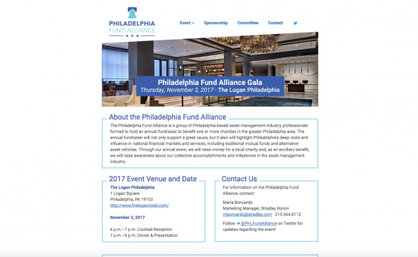 Philadelphia Fund Alliance Website